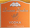 Gold Medal Russian Drakon Vodka